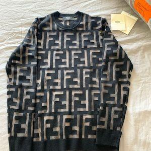 Fendi Monogram Viscose Sweater